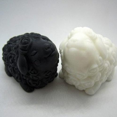 Donkey Milk Sheep Soap (Black & White Pair)