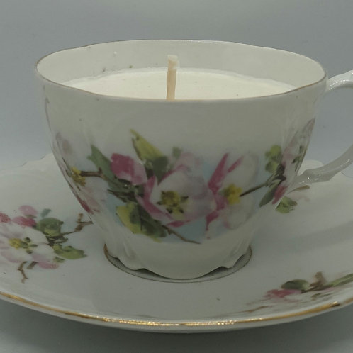 Handpoured Christmas pudding soy wax tea cup