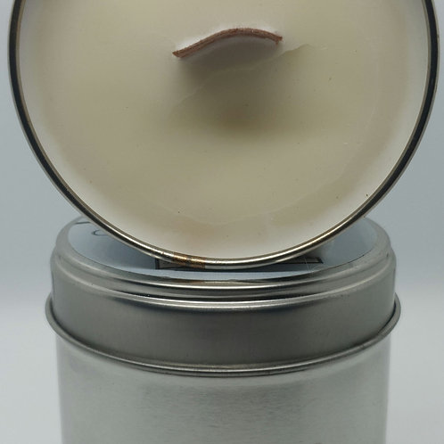 Handpoured large White Christmas soy tin