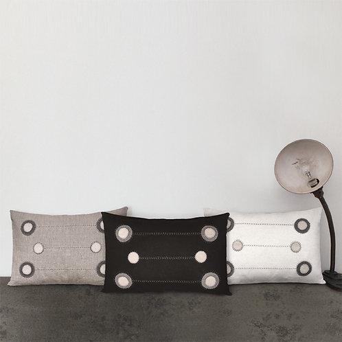 Wool cushion-Linen modern dots