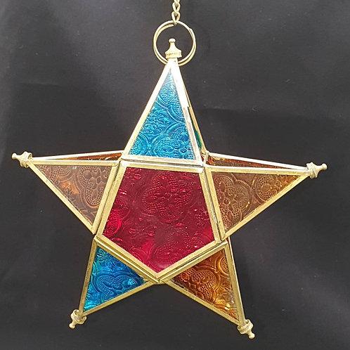 Hanging star tealight burner