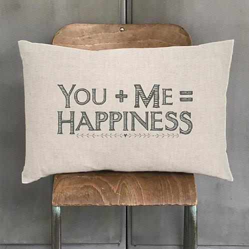 Long cushion-You+Me=Happiness