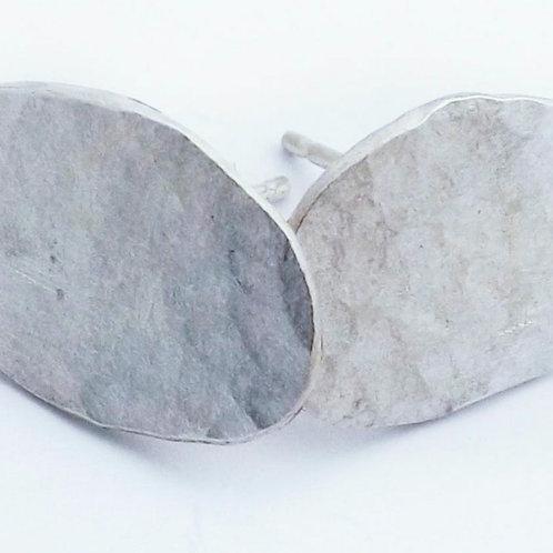 Sarah Drew Eco Silver Pebble Studs