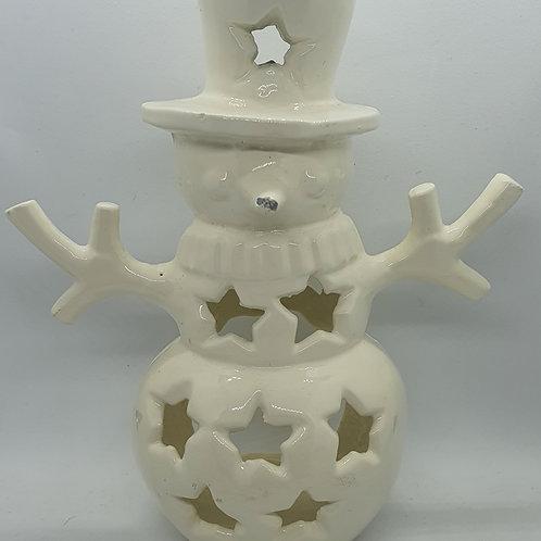 Snowman tea light burner
