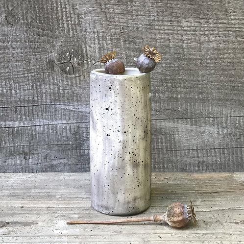 Med hand painted vase-Speckled wash