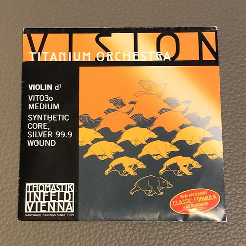 Violin VISION Titanium Orchestra Medium D Silver