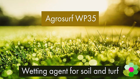 A comparison of wetting of Agrosurf WP35 against water for Soil and Turf