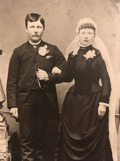 Samuel and Christina Swan Wedding, 1889