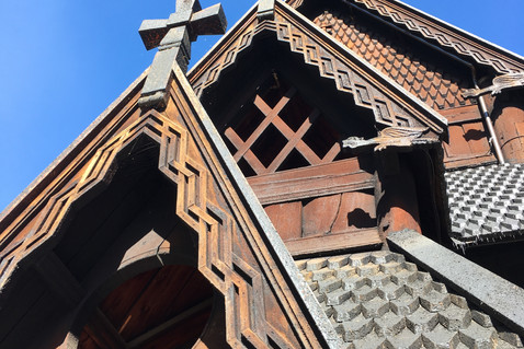stave church carvings