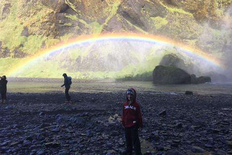 rainbow at Skógafoss, Iceland