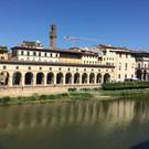 Uffizi Gallery, just across the river