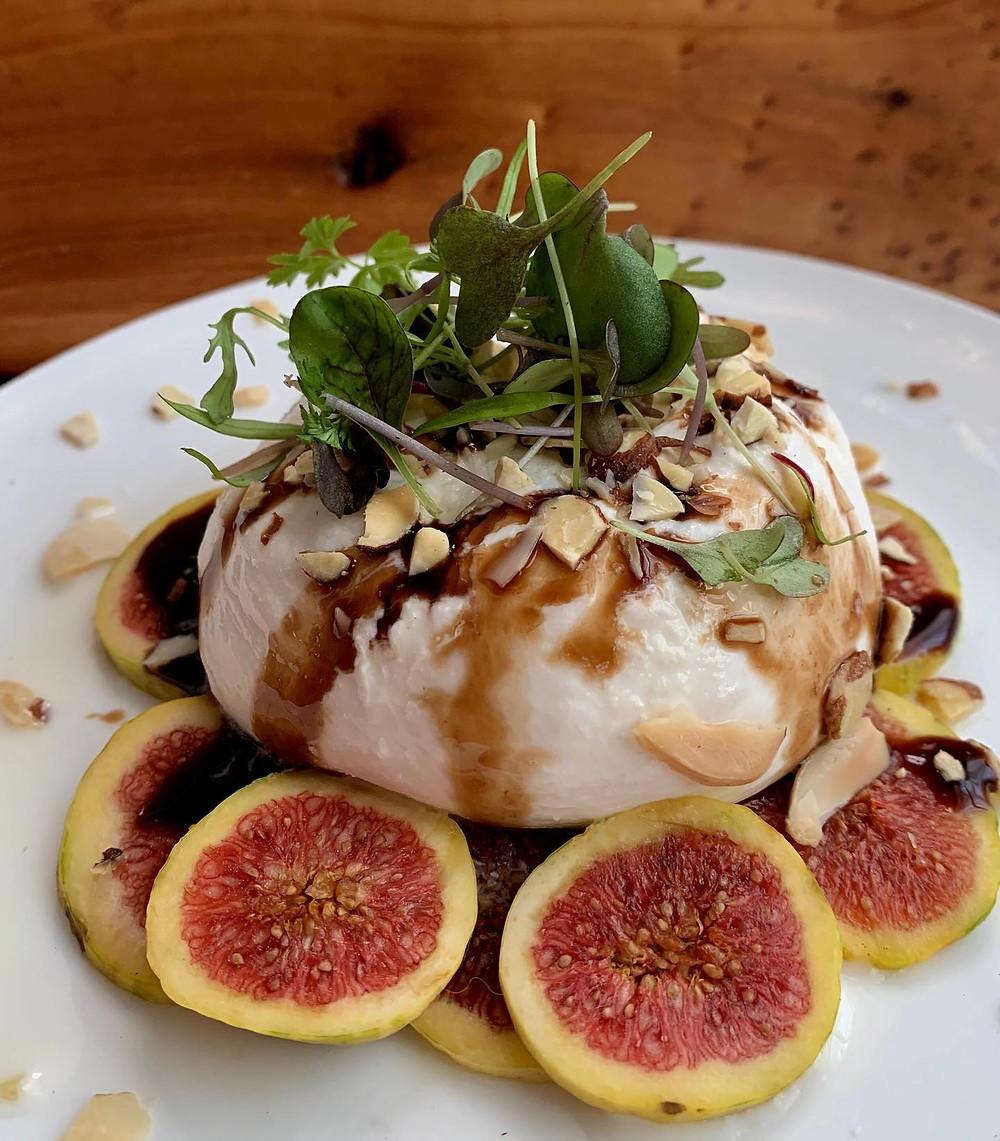 Burrata and fig salad   Flighttastings