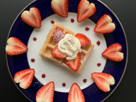 A Breakfast Full of Love-My favorite way to serve waffles