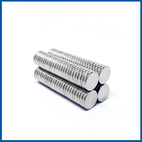 10mm x 2mm Neodymium Magnets - 100 Pack