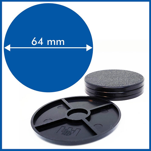 Round - 64mm Bases - 4 Pack