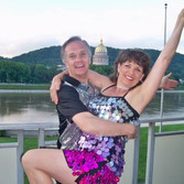 Jim & Mary Louise Dance in Front of Capi