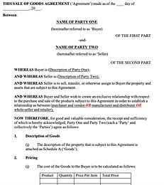 Exclusivity Agreement (Goods) - No logo.