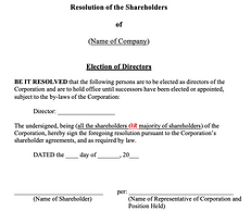 Shareholders' Resolution (Election of Di