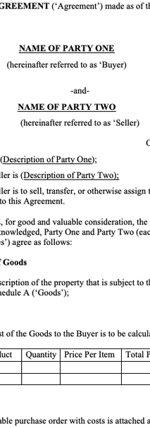 Product Purchase Agreements