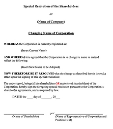 Special Shareholders' Resolution (Changi