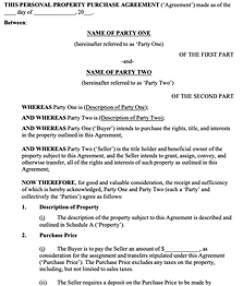 General Property Purchase Agreement - No