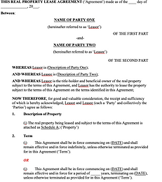 Real Property Lease Agreement - No logo.