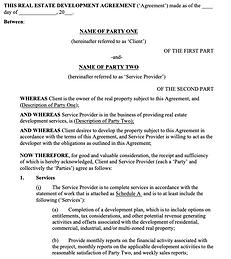 Real Estate Development Agreement - No l