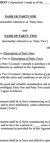 Licensing Agreements