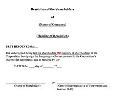 Shareholders' Resolution (General) - No
