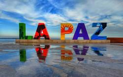 Letras malecón La Paz