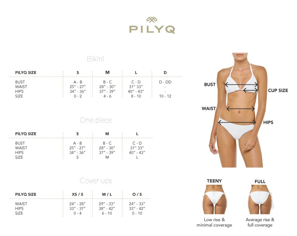 Pilyq Size Chart