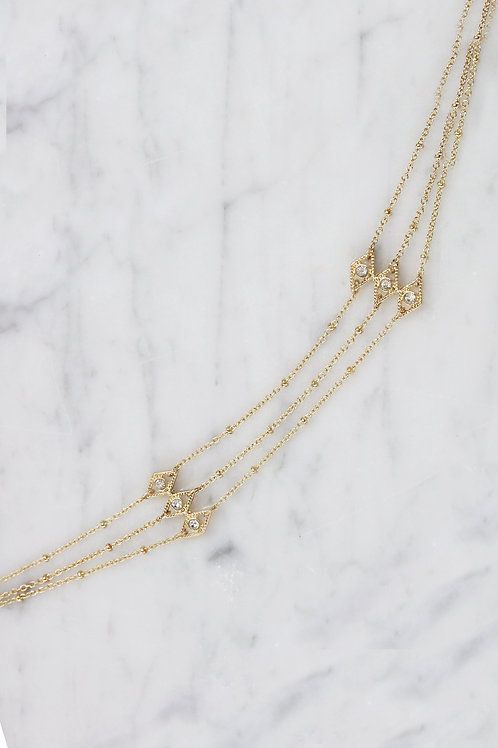 All in the Eyes Choker in Gold