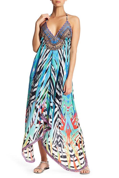 Colorful Zebra Dress