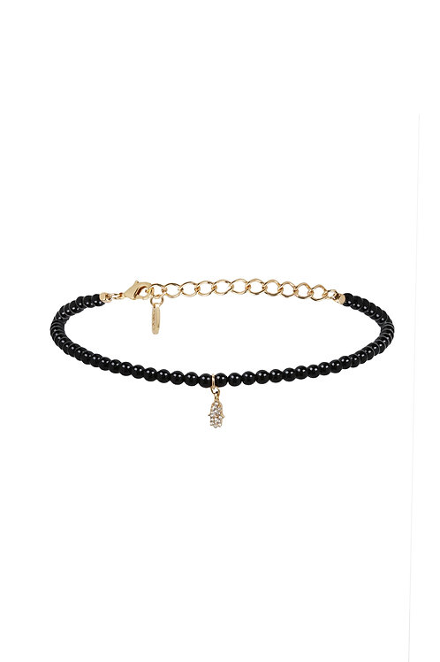 Cluster Must Have Choker in Onyx and Gold