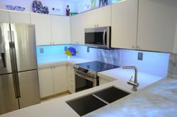 Gray and Translucent Quartz Counters
