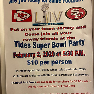 The Tides Super Bowl Party