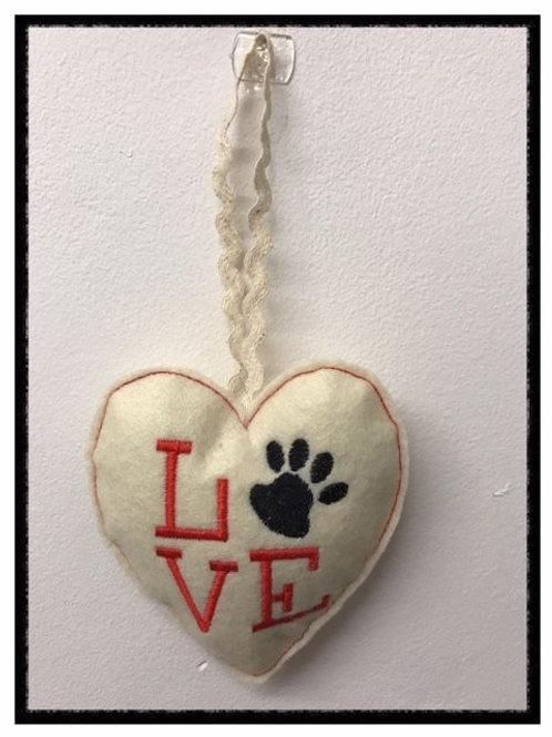 Paw Print Heart Design