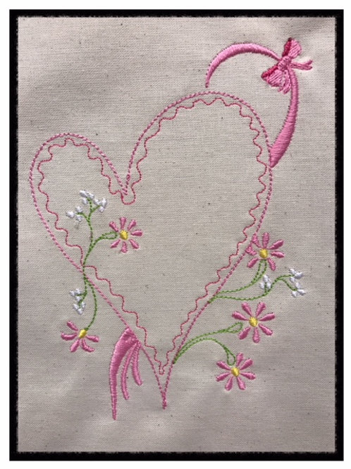 Decorative Heart & Flowers