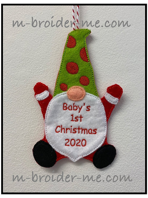 Babys 1st Christmas Gnome