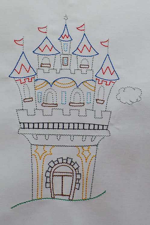 Rickety Enchanted Castle Linework Design