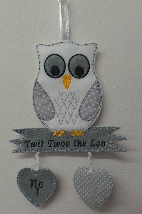Owl Wall Hanger ITH Design