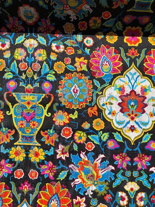 """Cotton Canvas Multi Print 55"""" wide"""