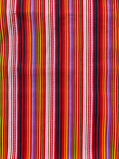 "100% Cotton Multi Stripe 44"" wide"