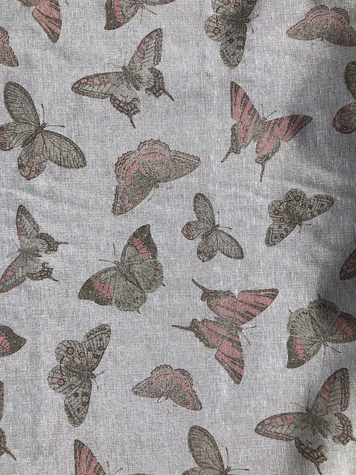 "Linen Look Canvas Butterflies 55"" wide"