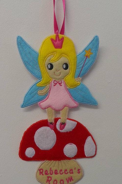 Personalised Fairy Door Hanger ITH Design