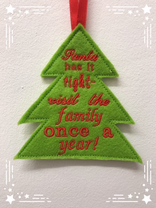 Christmas Tree Hanging Decoration Design