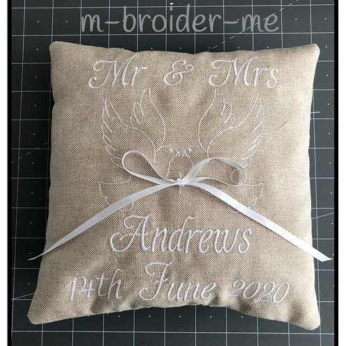Ring Bearers Cushion with Doves
