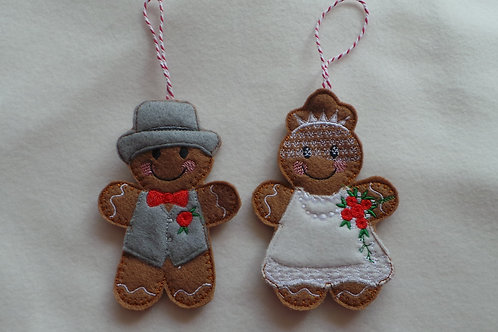 Gingerbread Bride & Groom