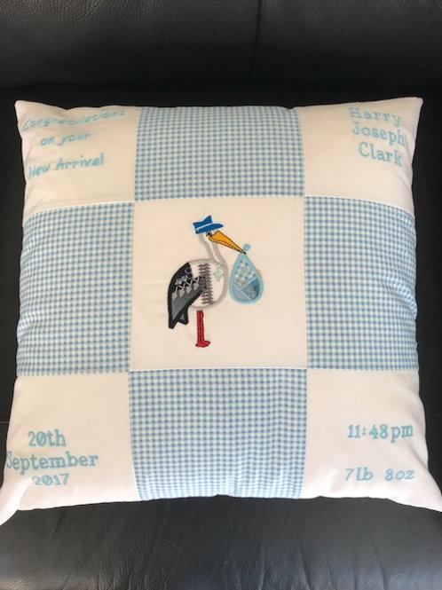 Birth Announcement Cushion