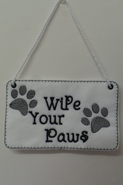 Wipe Your Paws Hanger Design
